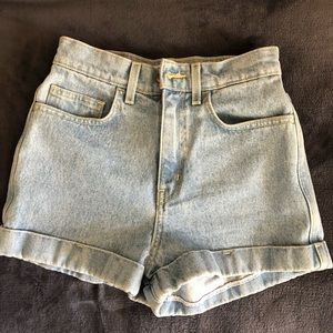 American apparel  High waist cuff short